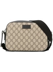 Gucci Gg Supreme Shoulder Bag Brown
