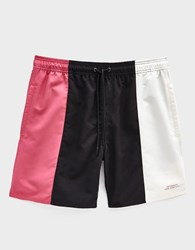 Saturdays Surf Nyc Timothy Block Swim Short White Black Fuchsia