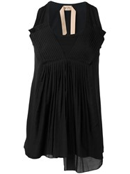 N 21 No21 Pleated Front Tank Black