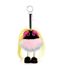 Fendi Mini Zaino Monster Fur Charm Multicoloured