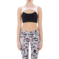 Live The Process Contour Sports Bra White Black Rose