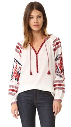 Scotch And Soda Maison Scotch Boho Blouse Off White