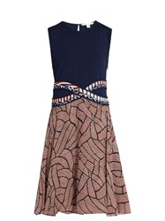 Diane Von Furstenberg Rosalie Dress Navy Multi