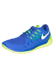 Nike Performance Free 5.0 Lightweight Running Shoes Hyper Cobalt White Volt Electric Green Blue