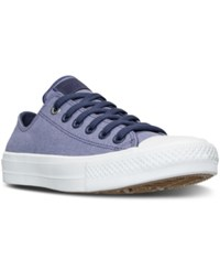 Converse Women's Chuck Taylor All Star Ii Ox Casual Sneakers From Finish Line Japanese Eggplant Frozen