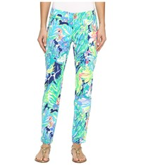 Lilly Pulitzer Kelly Skinny Ankle Pants Multi Purrfect Women's Casual Pants Green