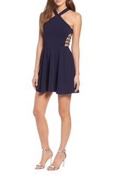 Speechless Side Cutout Fit And Flare Dress Midnight