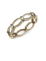 Heidi Daus Double Time Crystal Hinged Bangle Gold