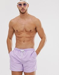 New Look Basic Swimshort In Lilac Purple