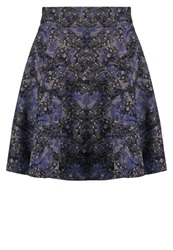 Eleven Paris Space Jup Mini Skirt Moon Marble Blue Dark Blue