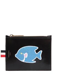 Thom Browne Small Fish Patch Leather Coin Purse