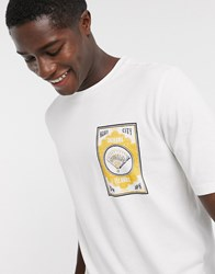 Selected Homme Oversized Graphic Logo T Shirt In Off White