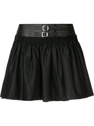 Alyx A Line Mini Skirt Women Cotton Spandex Elastane Artificial Leather M Black
