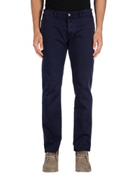Gold Case By Rocco Fraioli Casual Pants Dark Blue