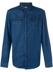 Emporio Armani Denim Shirt Blue