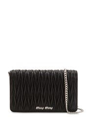 Miu Miu Small Delice Quilted Leather Bag Black