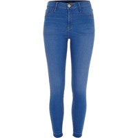 River Island Womens Blue Bleached Wash Molly Jeggings