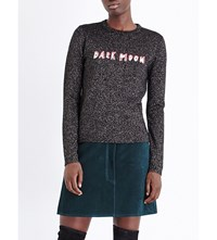 Bella Freud Dark Moon Metallic Knit Jumper Black Sparkle