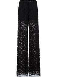 Adam By Adam Lippes Lace Relaxed Leg Trousers Black