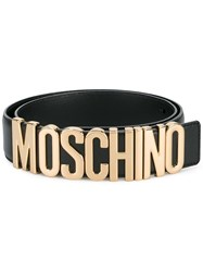 Moschino Logo Belt Black