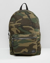 New Look Camo Backpack In Khaki Khaki Green