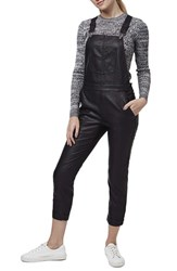 Women's Topshop Skinny Faux Leather Overalls