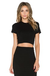 Gettingbacktosquareone Crop Tee Black