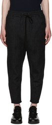 Song For The Mute Grey Pinstripe Drawstring Trousers