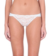 Myla Isabella Satin Knickers Dusted Blue White