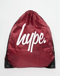 Hype Script Drawstring Backpack Red