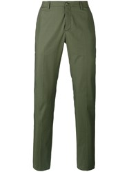 Etro Classic Chino Trousers Men Cotton Spandex Elastane 46 Green