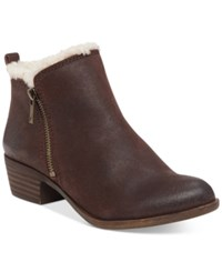 Lucky Brand Women's Basel Fake Fur Lined Booties Women's Shoes Java