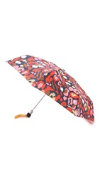 Marc By Marc Jacobs Graffiti Leopard Umbrella Ruby Red Multi