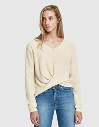 Which We Want April Wrap Knit Top Beige
