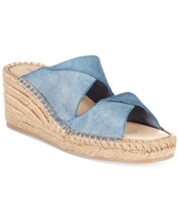 Kelsi Dagger Brooklyn Inwood Wedge Sandals Women's Shoes Denim