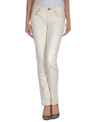 Htc Denim Pants Ivory