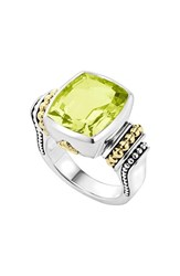 Women's Lagos 'Caviar Color' Medium Semiprecious Stone Ring Green Quartz