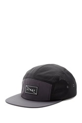 Globe Blocked 5 Panel Cap Black