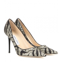 Jimmy Choo Abel Zebra Lace And Glitter Pumps