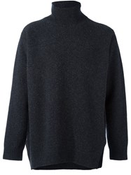 Ports 1961 'Fully Fashioned' Turtleneck Sweater Grey