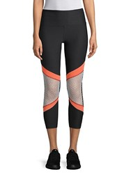 Marika Kendall Mesh Classic Leggings Black Multi