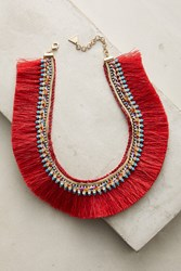 Anthropologie Corsican Bib Necklace Red