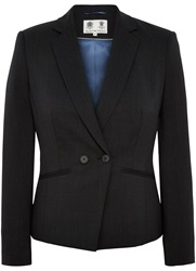 Austin Reed Prince Of Wales Check Jacket Charcoal