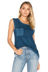 Cotton Citizen The Marbella Muscle Tank Blue
