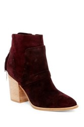 Sigerson Morrison Gianna Contrasting Bootie Red