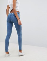 Freddy Wr.Up Shaping Effect Mid Rise Push Up Skinny Jean Light Blue