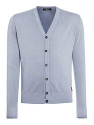 Replay Men's Faded Colour Cotton Cardigan Blue