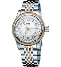 Oris 75475434361Mb Big Crown Rose Gold Plated And Stainless Steel Watch