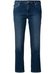 Love Moschino Low Rise Cropped Jeans Blue