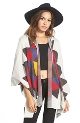 Junior Women's Billabong 'Enchanted Ways' Geometric Pattern Poncho Cardigan